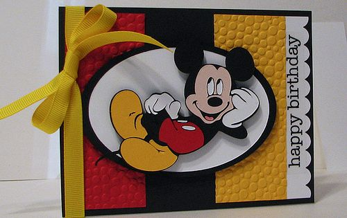 Scrapping Mommy: Mickey Birthday Theme with the Cricut