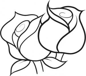 Flowers How To Draw Roses For Kids Flower Sketches Simple Line Drawings Easy Flower Drawings