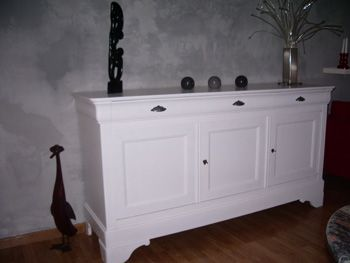 Bahut Merisier Blanc Avant Apres Relooker Meuble Mobilier De Salon Relooking Meuble