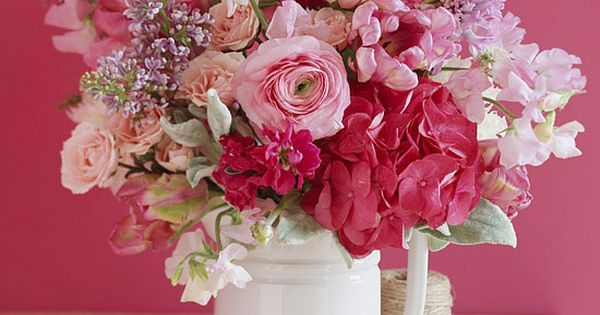 pretty pink flower arrangement