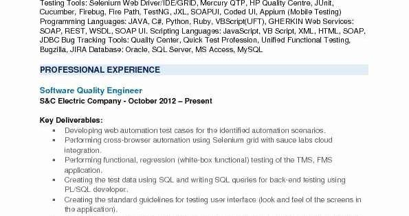 Pin Di Best Software Tester Resume Sample