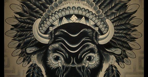 buffalo headdress tattoo tattoos buffalo tattoo pinterest headdress tattoo animal. Black Bedroom Furniture Sets. Home Design Ideas