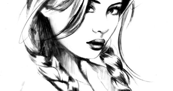 Sketch By Janesko Art Illustration Pinup Face Pencil