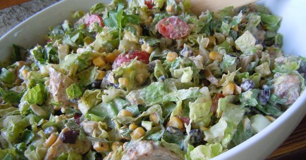 Chipotle chicken taco salad :: only 249 calories for 2.5 cups! Must