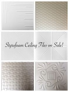 Decorative Ceiling Tiles Sale With Images Styrofoam Ceiling Tiles Ceiling Tiles