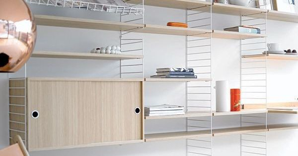 string shelves meuble tv bibliotheque pinterest string shelf and shelves. Black Bedroom Furniture Sets. Home Design Ideas