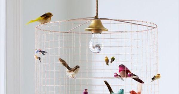 Cute bird cage lampshade