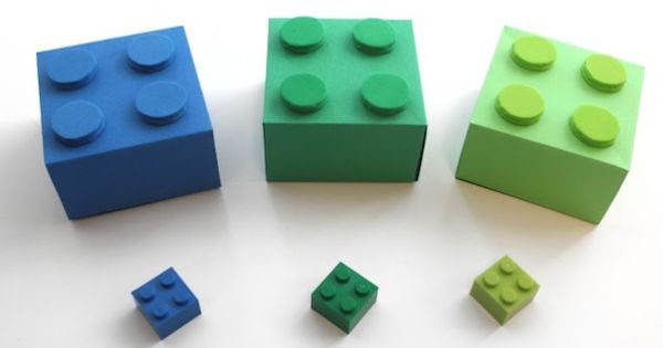 Lego gift boxes. These would look super cute under a Christmas tree