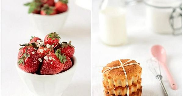 Tea cakes, Strawberries and Mint on Pinterest