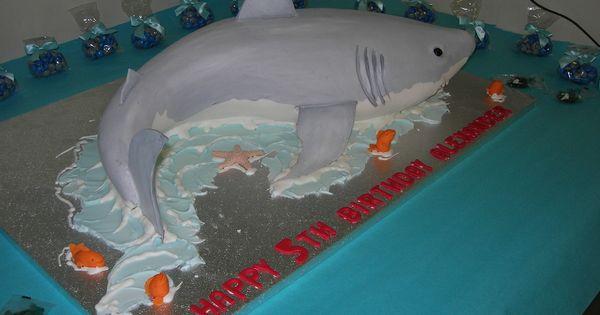 Awesome 3D shark cake!   Baby Shower - Shark!!   Pinterest ...