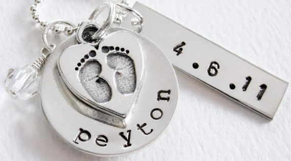 New Baby New Mom Necklace Personalized Name by Patricia8Anderson, $55.50. I got