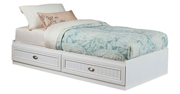Best Ameriwood™ Twin Mates Federal White Storage Bed At Big 400 x 300