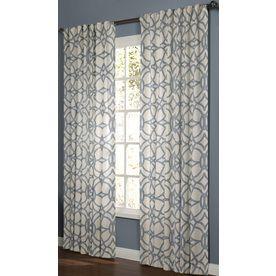 back tab window curtain panel