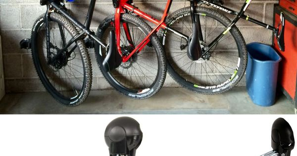 Space saving bike storage unit is great for hanging bikes in the shed garage inside or in - Bike storage for small spaces image ...