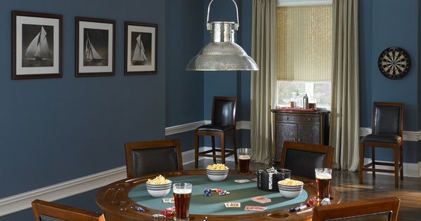 Stormy Ocean Interior Colors Inspirations Smokey Blue 540f 5 Swiss Coffee 1812 Behr