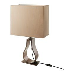 Ikea Klabb Table Lamp With Led Bulb You Can Create A Soft Cozy Atmosphere In Your Home With A Textile Shade That Spreads A Diffus Lamp Lamp Bases Led Bulb
