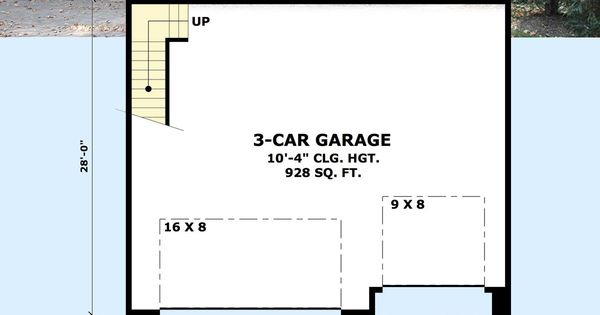 Plan 14630RK: Rugged Garage with Bonus Room Above | Garage ...