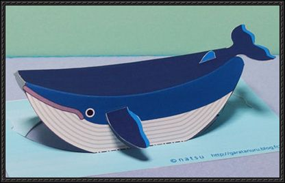 Simple Whale Pop Up Card Free Papercraft Download Http Www Papercraftsquare Com Simple Whale Pop Card Free Pa Papercraft Download Paper Crafts Pop Up Cards
