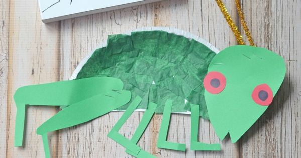Eric carle paper plate cricket kid craft cricket for The cricket arts and crafts