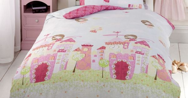Ch teau de f e set housse de couette simple princesse de for Housse couette fly