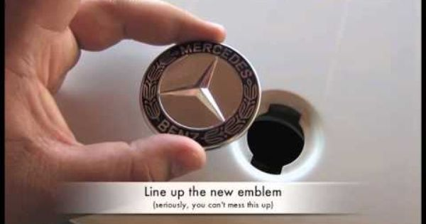 Mercedes Benz Standing Star Conversion To Flush Mount Emblem Mercedes Benz Benz Mercedes
