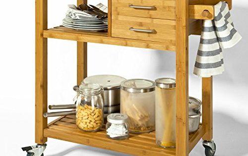 sobuy fkw26 n meuble rangement cuisine roulant en bambou chariot de cuisine desserte. Black Bedroom Furniture Sets. Home Design Ideas