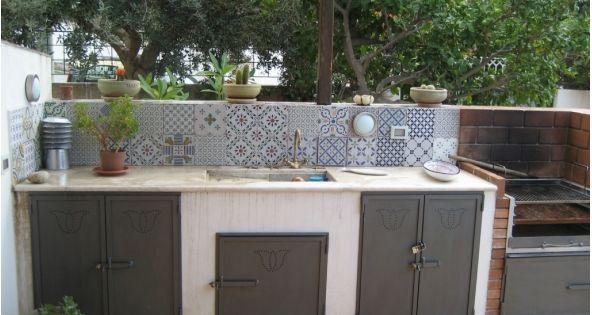 Cucina all 39 aperto kitchens pinterest cucina - Cucina da esterno con barbecue ...