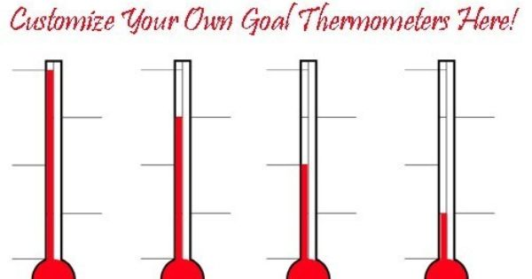 Design Custom Goal And Fundraising Thermometers Online Goal
