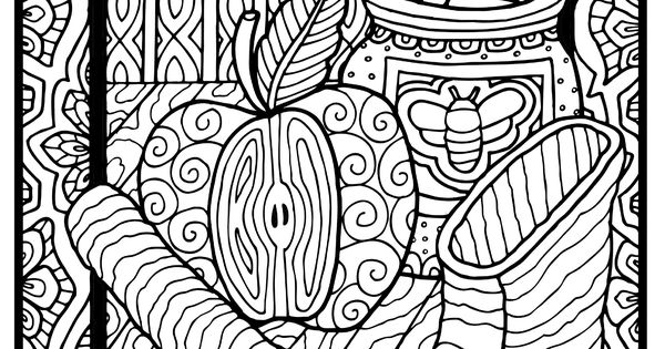 Jewish Coloring Pages For Adults : From shalom coloring a jewish book for grown ups