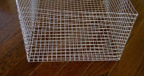 Diy Making Your Own Wire Storage Baskets Wire Basket