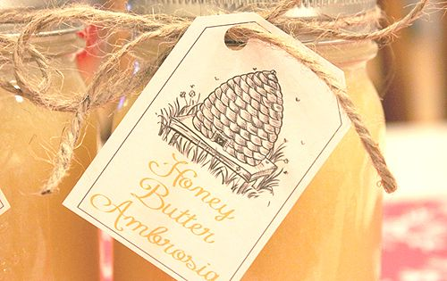 HOMEMADE HONEY BUTTER AMBROSIA! (WITH DOWNLOADABLE GIFT TAGS!! ) ~ all the