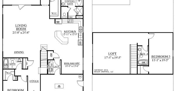 House Plan 2632 Azalea Floor Plan Traditional 1 1 2