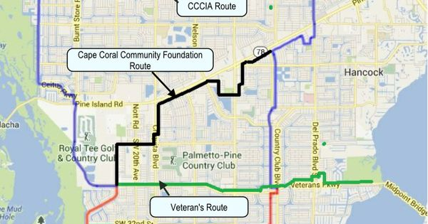 Cape Coral Bike Ped Routes Cape Coral Southwest Fla