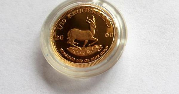 2000 1 10 Oz Gold Proof South African Krugerrand Coin In Plastic Capsule On Sale 10 Off 265 50 Gold And Silver Coins Silver Coins Gold Bullion