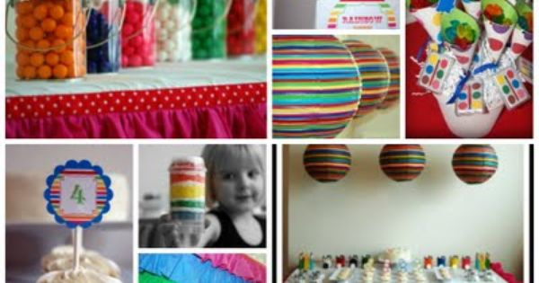 craft ideas for parties great decorations and ideas for a artist 3878
