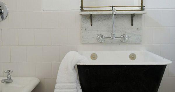 Black Laundry Tub : black utility sink and freestanding tub Bath III Pinterest ...