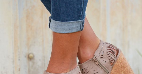 Fringe Delight Wedge - Taupe from Closet Candy Boutique | See more about Fringes, Wedges and Taupe.