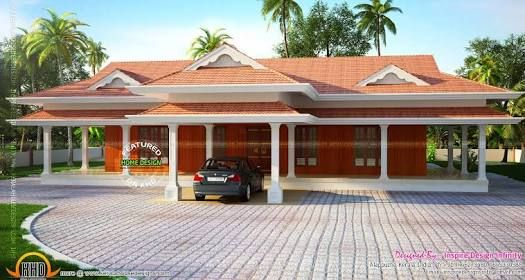Image Result For Kerala Traditional Single Floor House House Elevation Modern House Design House Plans