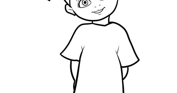 boo monsters inc coloring pages - character little boo monster inc coloring pages khloe