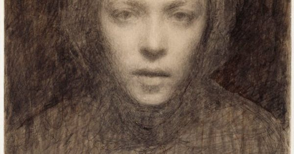 Ellen Thesleff (1869-1954) Autoportrait (1894-1895) Galerie nationale de Finlande, Ateneum ...