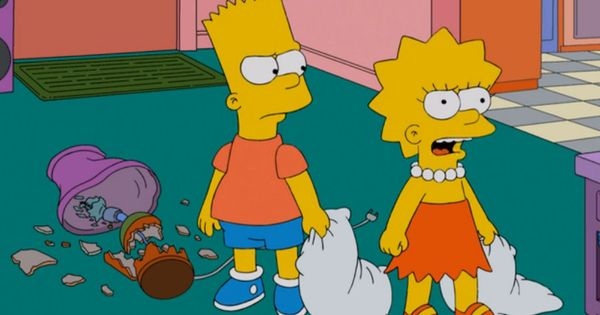 Bart mom lisa made me break a lamp lisa mom bart is twisting facts in an orwellian fashion - Marge simpson et bart ...