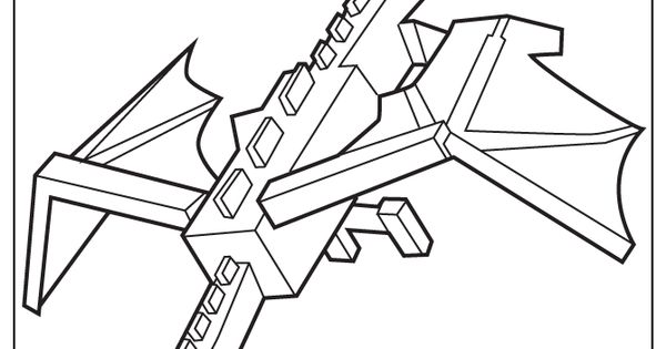 minecraft coloring pages ender dragon - photo#22