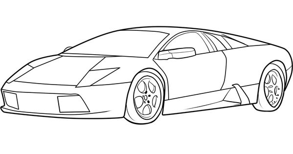 Lamborghini Egoista Drawing