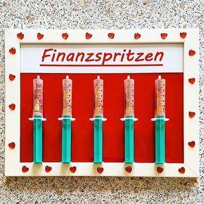 Finanzspritzen finanzspritze geld geldgeschenk hochzeit hochzeitsgeschenk geburtstag - Geldgeschenk teenager ...