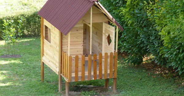 cabane de jardin pour enfant en bois de r cup 39 bosch. Black Bedroom Furniture Sets. Home Design Ideas