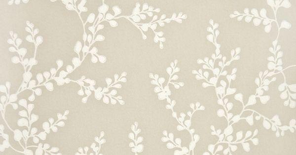 Shadow Fern Floral Wallpaper White Shadow Fern Print On