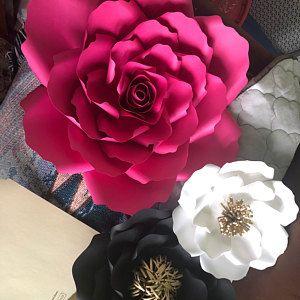 Kate Spade Theme Paper Flowers Set Paris Theme Paper Flowers Pink