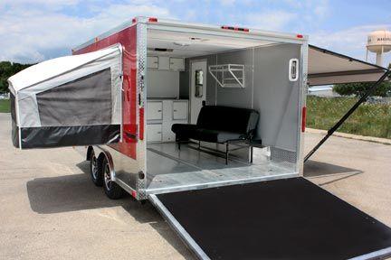 Quicksilver Vrv Cargo Camping Trailer Toy Hauler Adventures Enclosed Trailer Camper Cargo Trailer Camper Cargo Trailer Conversion