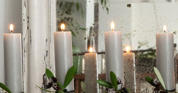 flower pots as candle holders