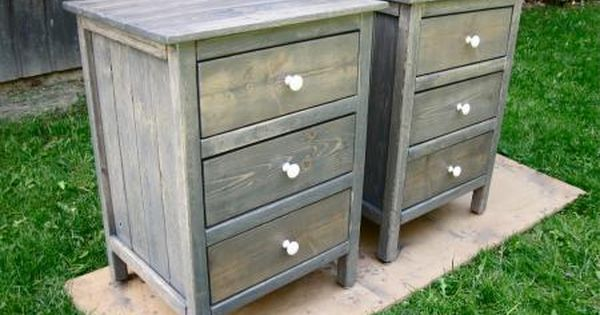 3 Drawer Night Stands Do It Yourself Home Projects From Ana White Basement Bedroom